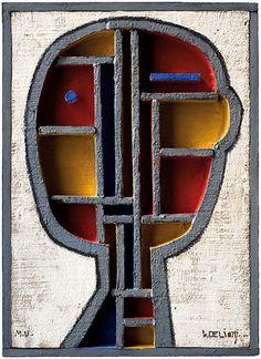 Walter Deliotti, Structured Head in Primary Colors.
