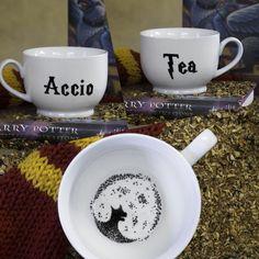 I want it so badly!  Harry Potter Accio Tea Mug: Grim Edition by TooLegitTooKnit
