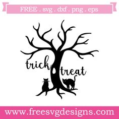 Free SVG files Halloween Trick Or Treat at www.freesvgdesigns.com. FREE SVG files for Cricut Design Space / Silhouette Cameo for all your DIY, scrapbooking and crafting projects. #svgfilesvg #freesvg #freesvgfiles #freeimages #cricutdesignspace #cricut #silhouettecameo #clipart #freeclipart #scrapbooking #quote #halloween #fall #witch #trickortreat