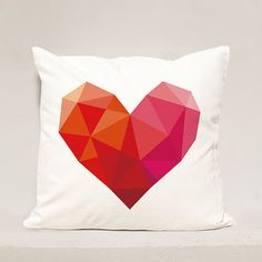 Heart pillow Cover , Heart Geometric Pillow Case , Love Pillowcase, Valentine Day Pillow Case