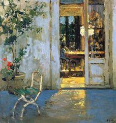 Vincenzo Irolli, The Lit Dining Room, late 19th C. / Pinacoteca Provinciale di Bari