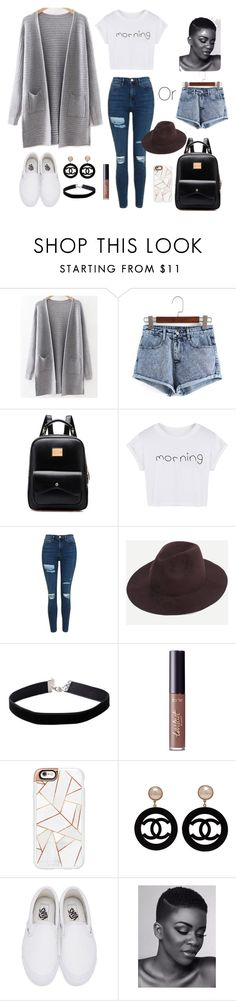"""Outfit Choice"" by jjlexi on Polyvore featuring WithChic, Topshop, Miss Selfridge, tarte, Casetify, Chanel and Vans"