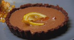 Hot toddy tart with honey ice cream and guiness jam | MasterChef Australia #MasterChefRecipes