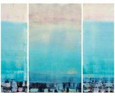 A Day at the Beach, triptych monoprint by Linda Whittemore. www.lindawhittemore.com