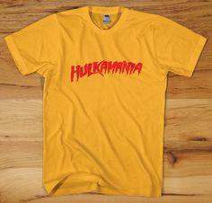 Retro HULKAMANIA T-Shirt - hulk hogan logo wwf wwe wcw logo wrestling wrestlemania S M L XL 2X New on Etsy, $10.00