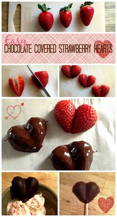 . You Pinspire Me .: Easy Chocolate Strawberry Hearts