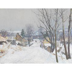 "EDWARD WILLIS REDFIELD (American 1869-1965) ""THE ROAD TO CENTRE BRIDGE"" #FreemansAuction"