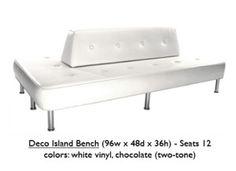 Furniture: Deco Island Bench-White