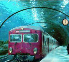 Underwater train in Venice ♥