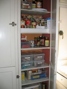 an organized pantry...