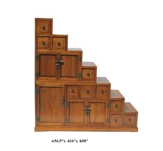 Japanese step tansu (kaidan tansu). It's a cabinet! Pret-ty cool ...
