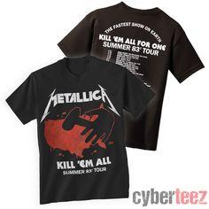 cyberteez.com - Metallica Kill Em All 1983 Tour T-Shirt ebb34e9cb