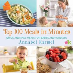 Save time and stay stress-free in the kitchen by using the Top 100 Meals in Minutes: Quick and Easy Meals for Babies and Toddlers book from the experienced Annabel Karmel. This book is packed with delicious and nutritious meals for the whole family. Healthy Foods To Eat, Healthy Kids, Healthy Recipes, Dinner Healthy, Meat Recipes, Kids Meals, Easy Meals, Cooking With Kids Easy, Childrens Meals