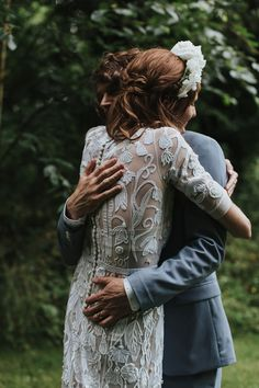 Kate were a personalised and embroidered Hermione de Paula gown for her Cripps Barn Wedding. Photography by Lee Garland.