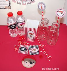 DulciNoa: Tartas, galletas,kits cumpleaños,chocolatinas personalizadas: Kit de Piratas