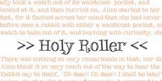 Holy Roller font download