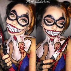 Harley Quinn *** Makeup, Halloween Makeup, Cosplay Makeup