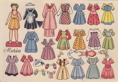 RECORTABLE MUÑECAS FLORITA MARIA - Foto 1 Old Granny, Vintage Paper Dolls, Free Paper, Doll Toys, Paper Cutting, Fun Crafts, Little Girls, Old Things, Female Names