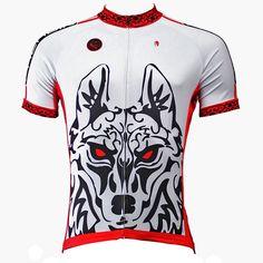 b6a334ee9 Two men s Wild Animal Wolf cycling T-shirts short-sleeve summer sportswear  gear Pro Cycle Clothing Racing Apparel Outdoor Sports Leisure Biking T-shirt  ...