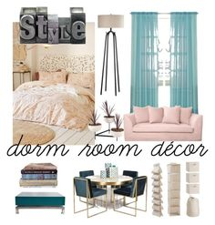 """""""#dormdecor"""" by regina-eghie on Polyvore featuring Plum & Bow, PBteen and Maison Jansen"""