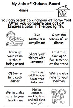 100 acts of kindness for 100th day of school