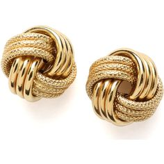 Jewelryweb 14k 12mm Yellow Gold Large Love Knot Earring (57 BHD) ❤ liked on Polyvore featuring jewelry, earrings, accessories, bijoux, brincos, 14k gold earrings, yellow gold earrings, love knot jewelry, gold love knot earrings and yellow gold jewelry