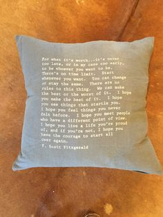 FITZGERALD QUOTE PILLOWS, quotes, pillow decor, inspiration, boho, rustic,