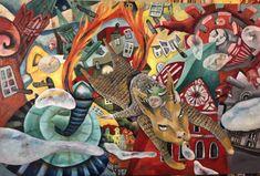 International Artist, Contemporary Paintings, Modern Art, Unique Art, Cultural Studies, Expressionism, Oil On Canvas, Still Life, Contemporary Art