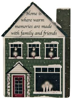 Home Gathering House Magnet - Kruenpeeper Creek Country Gifts