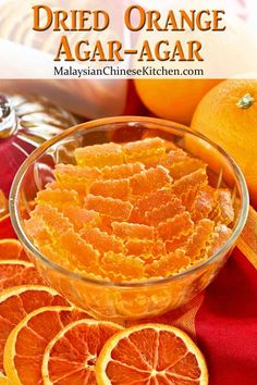 This Dried Orange Agar-agar is an easy to prepare crystallized orange flavored jelly. It has a sandy texture and is best savored in small pieces. Agar Agar Jelly, Orange Food Coloring, Dried Oranges, Dehydrator Recipes, Orange Recipes, Sun Dried, Indian Food Recipes, Food To Make, Healthier Desserts