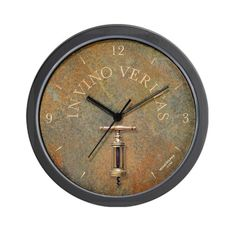 Special Offers - CafePress IN VINO VERITAS wine clock antique corkscrew Wall Clock - In stock & Free Shipping. You can save more money! Check It (July 30 2016 at 03:39AM) >> http://wallclockusa.net/cafepress-in-vino-veritas-wine-clock-antique-corkscrew-wall-clock/