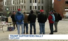 Feb. 6, 2017 - HuffingtonPost.com - This is a rally? Pro-Trump gathering attracts a meager eight supporters