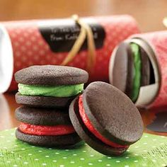Dark Chocolate Mint Sandwich Cookies from Land O'Lakes
