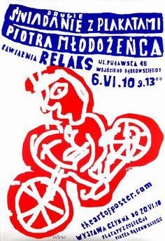 A Second Brunch with a Posters of Piotr Mlodozeniec Drugie sniadanie z plakatami Piotra Mlodozenca Mlodozeniec Piotr Polish Poster
