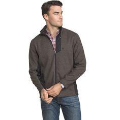 Big & Tall IZOD Advantage Regular-Fit Performance Shaker Fleece Jacket, Men's, Size: Xl Tall, Dark Grey