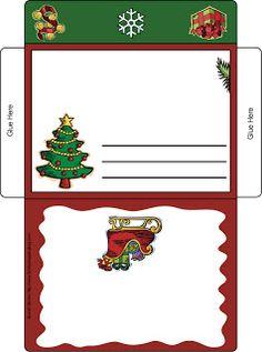 Moldes para Todo: *♥* Sobres Christmas Envelopes, Christmas Stationery, Christmas Labels, Christmas Templates, Christmas Love, Christmas Bags, Christmas Crafts, Christmas Invitations, Envelope Carta
