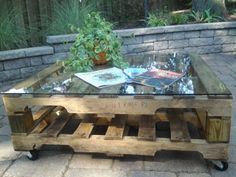 Coffee table made < from #pallets