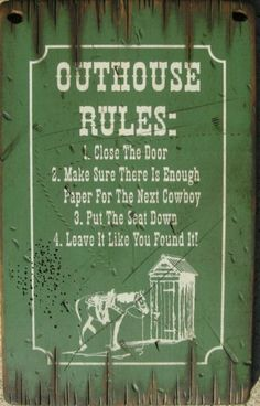 Rules to go Outhouse Bathroom, Cowboy Christmas, Western Decor, Country Life, Shed, How To Make, Pictures, Garden, Windmills