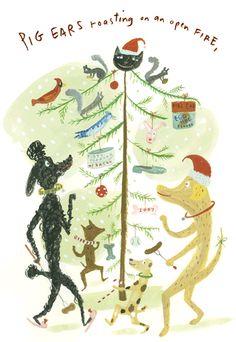 Jessie Hartland | Holiday greetings from Bark magazine