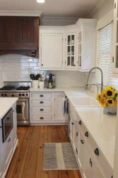 kitchen remodel before and after pictures; farmhouse style; modern rustic kitchen; white and gray kitchen #remodelingbeforeandafter #RemodelingBeforeandAfter #kitchenremodelgray #kitchenremodelingbeforeandafter