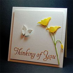 Lovely card. I think I could cut the butterfly in half to make the flowers.