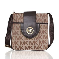 e19f45971182ae $65.99 Newest Michael Kors Fulton Logo Signature Large Khaki Crossbody Bags  have Arrived! Latest Makeup