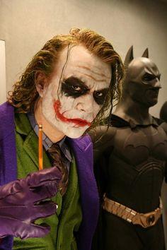 Joker (The Dark Knight): Wow still miss #Heath: Enter to win the Dark Knight Trilogy: https://www.facebook.com/MovieRoomReviews/app_228910107186452