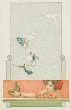 Art Nouveau Postcard by mica12244art, via Flickr