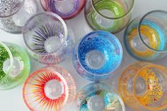 Add a Pop of Color to Your Glassware! via Brit + Co