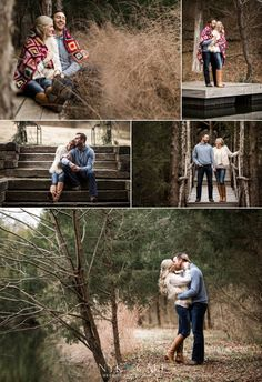 Nyk + Cali Wedding Photographers | Engagement | Nashville, TN | Historic Cedarwood | Fall | Quilted Blanket | Candids | Love | Rustic |