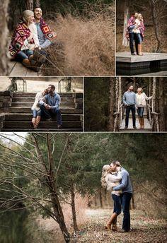 Nyk + Cali Wedding Photographers | Engagement | Nashville, TN | Historic Cedarwood | Fall | Quilted Blanket | Candids | Love | Rustic |
