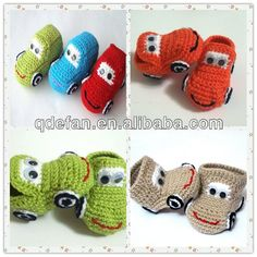 crochet bebé zapatos botas de bebé niño zapatos zapatos de ...