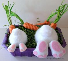 a bunny butt craft for easter