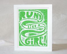 Girls on the Run. Possible card for my girls?
